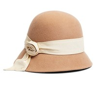 Twisted Knot Wool Cloche - Brooks Brothers
