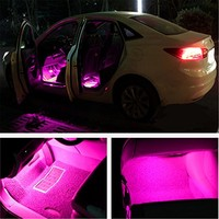 Ej 4pc. Interior de Coche Decoración atmósfera light-led Kit de iluminación interior de coche, impermeable, interior atmósfera luces de neón tira para coche