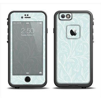The Light Blue Floral Branches Apple iPhone 6 LifeProof Fre Case Skin Set
