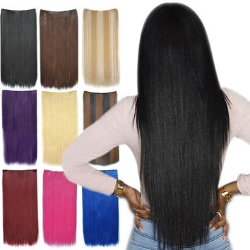 2017 New ! 20 Colours Sexy Girls Long Jet Black Clip in on Hair Extensions