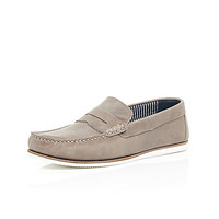 River Island MensStone suede loafers