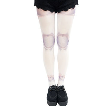 Halloween Skeleton Joint Print Tights