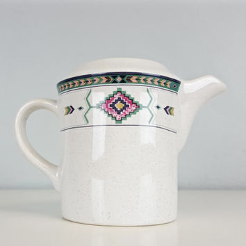 Vintage Creamer Boho Navajo Aztec Tribal Arrow Southwest Native Pastel Studio Nova Adirondack Pattern Creamer Boho Chic Kitchen Home Decor
