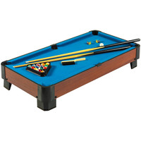 40 Inch Pool Table With Blue Felt Surface 2 Cues & Billiard Balls