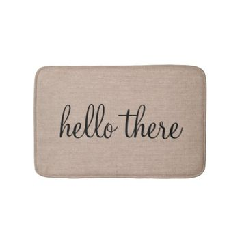 Hello there funny quote saying humor hipster burla bathroom mat