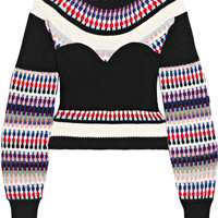 Burberry - Ribbed intarsia-knit sweater