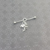 Dragon - Industrial Barbell Piercing 14G