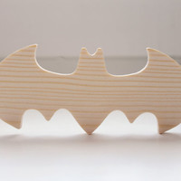 Unfinished wooden bow tie - Bat Bow Tie - Batman style - men accessories