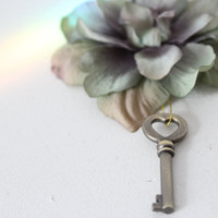 Wedding Boutonniere Key To My Heart Flower and Key by deLoop