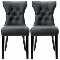 Silhouette Dining Chairs Set of 2 Black