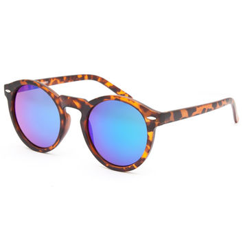 Full Tilt Trendy Round Keyhole Sunglasses Tortoise One Size For Women 25756640101