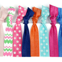 Valentine's Day Gift Idea for Little Girls to Teens - 10 Elastic Hair Ties - Hair Accessories in Polka Dot, Chevron - Girl's Hair Elastics