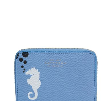 Smythson Seahorse Leather Coin Pouch | Nordstrom