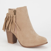 Adriana Juniper Womens Booties Beige  In Sizes