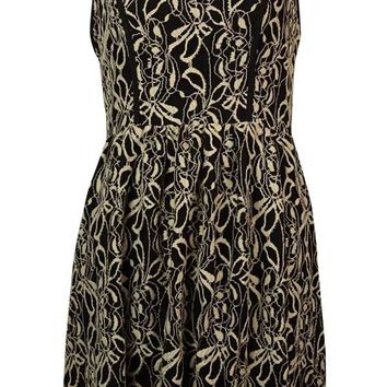 Bar III Women's Sleeveless Ivy Overlay Dress