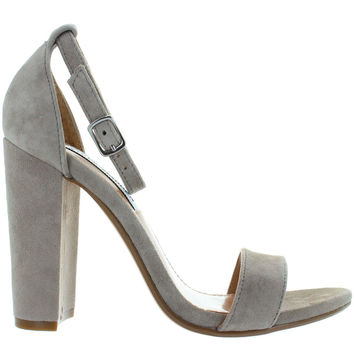 Steve Madden Carrson - Taupe Suede High-Heel Sandal
