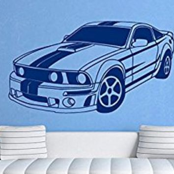 Wall Decal Vinyl Sticker Decals Art Decor Design Sport Car Auto Moto Speed Automobile Style Gift Mans Kids Children Dorm Bedroom (r345)