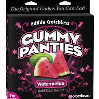 Edible Crotchless Gummy Panty - Watermelon