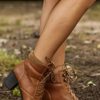 Cuff of Legend Bootie-Cognac