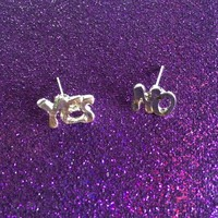 Yes No Maybe Earrings from ☯ harajuku alien ☯