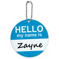 Zayne Hello My Name Is Round ID Card Luggage Tag