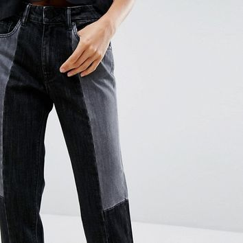 Waven Aki Boyfriend Jean with Contrast Wash at asos.com