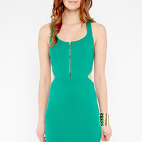Cross Ribbed Cut Out Dress $22