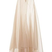 Vionnet Nude Organza Evening Skirt