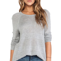 rag & bone/JEAN Bobbi Raglan Pullover in Gray