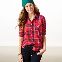 AE Heritage Plaid Shirt | American Eagle Outfitters