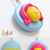 Happiness is to look and feel gorgeous - Gorgeous woman key chain - A gift for her - Beautiful woman key chain from Selsal