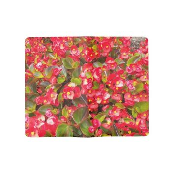 Red Wax Begonias Floral Photo Large Moleskine Notebook