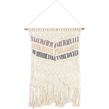 Macrame XL Triple Arrow Hanging Wall Decor