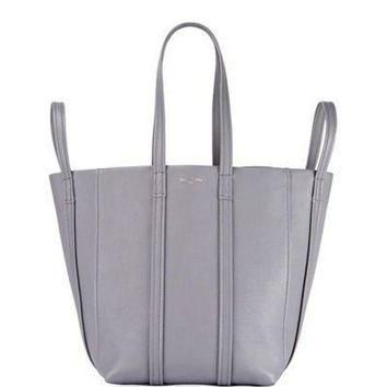 ONETOW balenciaga laundry cabas 4 strap leather tote bag 2