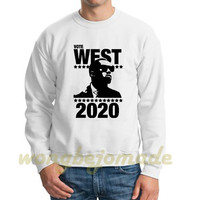 West 2020 Sweatshirt Yeezus Grey and White Color Unisex Sweatshirt