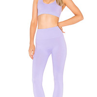 TLA by Morgan Stewart x MORGAN STEWART Cross Back Sports Bra in Lilac | REVOLVE