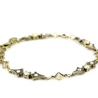 "Sorrelli ""Raw Sugar"" Vintage Style Crystal Delicate Goldtone Bracelet: Jewelry: Amazon.com"