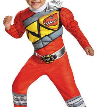Power Rangers Dino Charge: Red Ranger Muscle Toddler Costume