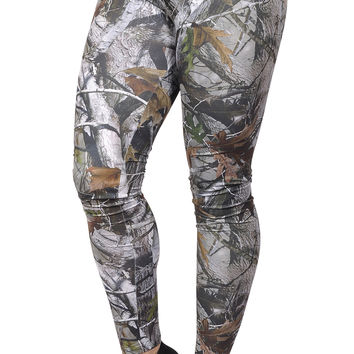 BadAssLeggings Women's Hunting Camo Leggings Medium