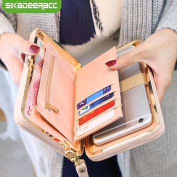 For iPhone X 8 7 6 Plus Case Women Bowknot Wallets Pocket Purse Credit Card Back