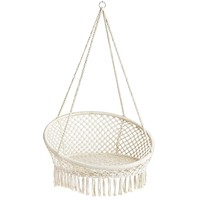 Macrame Natural Small Hanging Saucer Chair