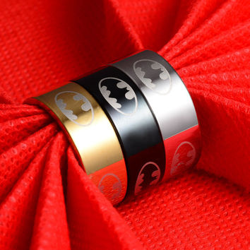 New Arrival 316l Stainless Steel Batman Rings Titanium Steel Rings For Women and Men