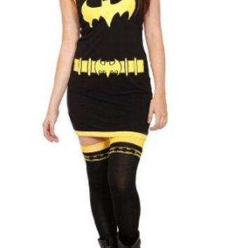 Batman Batgirl (DC Comics) Girls Tank Top Tunic Full Fitted Costume Tank Dress (Medium)