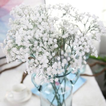 GlobalTop Artificial Gypsophila Floral Flower Fake Silk Wedding Party Bouquet Home Decor