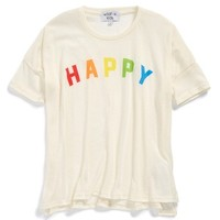 Girl's Wildfox 'Happy Girl' Graphic Cotton Tee