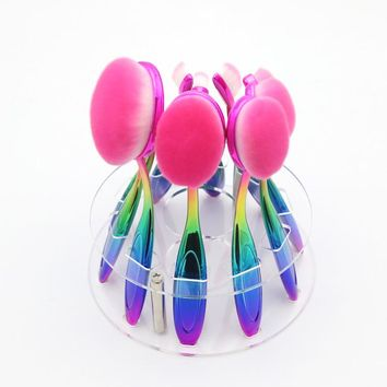 Ombre Professional Cosmetic Oval Makeup Brushes