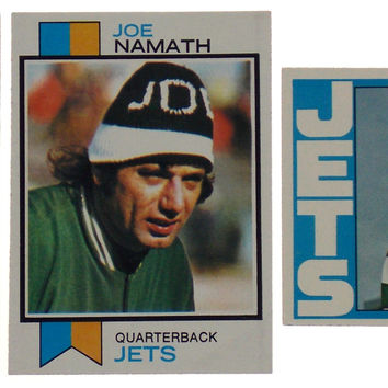 Set of 3 Joe Namath Topps Football Cards NY Jets Quarterback 1970 1972 1973 #150