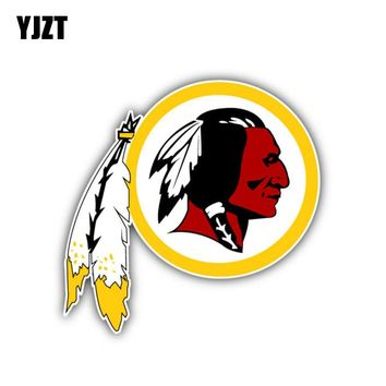 YJZT 11CM*10.8CM Accessories Washington Redskins Car Window Car Sticker Decal 6-1282