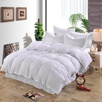New 4 Solid Color Plain Duvet Cover Bed Cover Quilt Cover Single Double & King Size Comforter Bedding Cotton Silk Bedding
