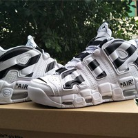 Off White x Air More Uptempo Basketball Sneaker